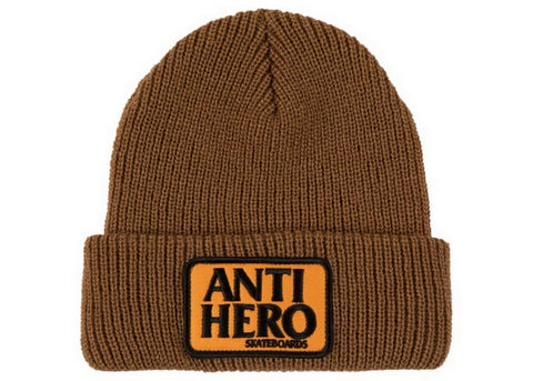 AntiHero Reserve Patch Beanie Brown/Orange