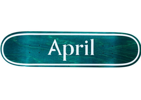 April OG Logo Invert Mint  8.25