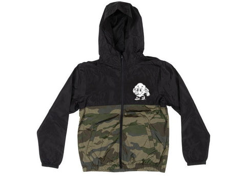 Avive Boys Colorful Windbreaker Jacket Black/Camo