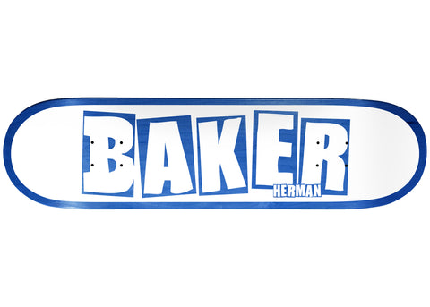 Baker Herman Brand Name White Blue 8.0
