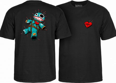 Bones Wheels Boo Voodoo Tee Black