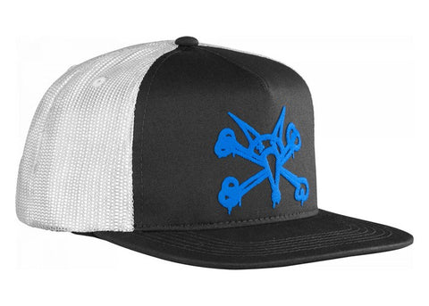 Bones Puff Trucker Cap Black/Blue