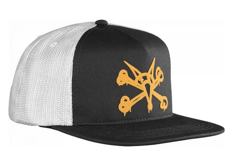 Bones Puff Trucker Cap Black/Gold