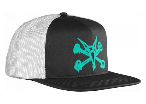 Bones Puff Trucker Cap Black/Mint