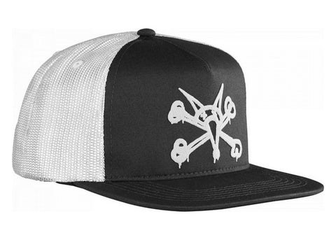 Bones Puff Trucker Cap Black/White