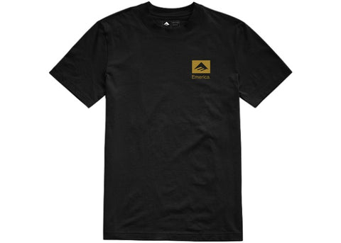 Emerica Brand Combo Tee Black/Gold