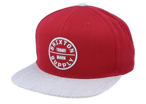 Brixton Oath III Snapback Cowhide/Heather Grey