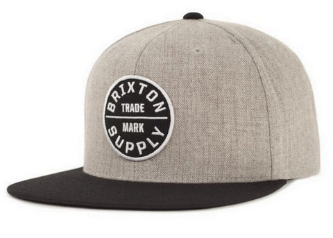 Brixton Oath III Snapback Light Heather Grey/Black
