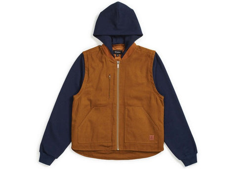 Brixton Abraham Convertible Jacket Copper/Navy