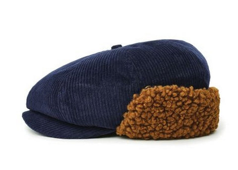 Brixton Brood Earflap Snap Cap Washed Navy