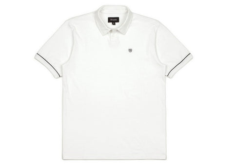 Brixton Carlos S/S Polo White/Black
