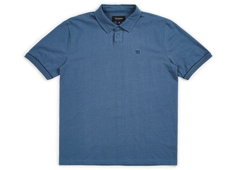 Brixton Carlos S/S Polo Dusty Blue