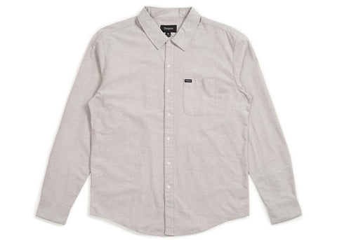 Brixton Charter Oxford L/S Grey