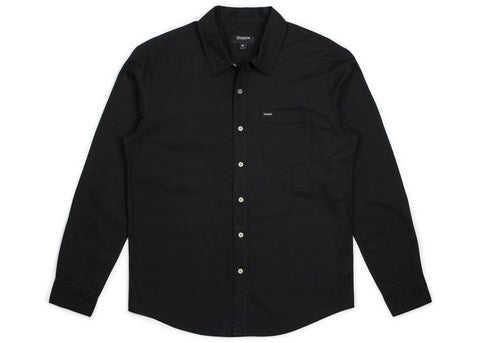 Brixton Charter Oxford L/S Black