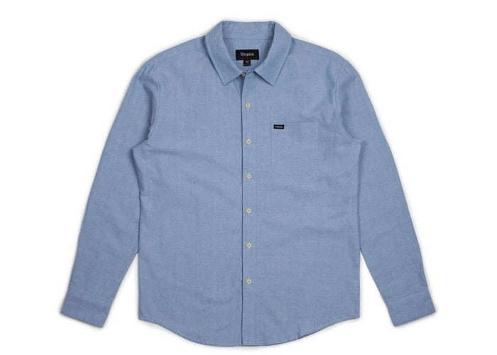 Image result for BRIXTON CHARTER OXFORD L/S WOVEN LIGHT BLUE CHAMBRAY
