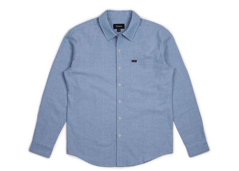 Brixton Charter Oxford Light Blue Chambray L/S Shirt