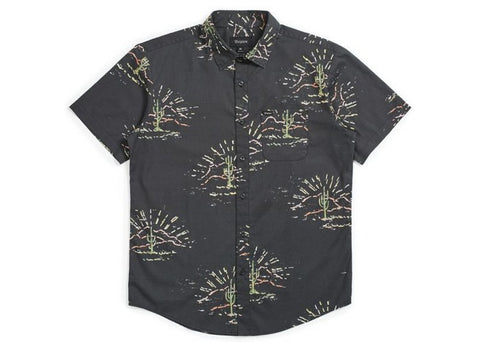 Brixton Charter Print S/S Washed Black