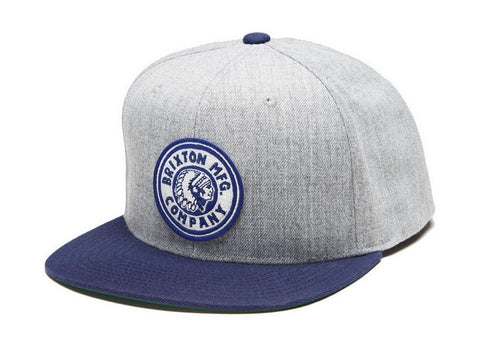 Brixton Rival Snapback Heather Grey/Navy