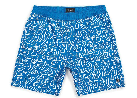 Brixton Steady Elastic Waistband Short Royal/White