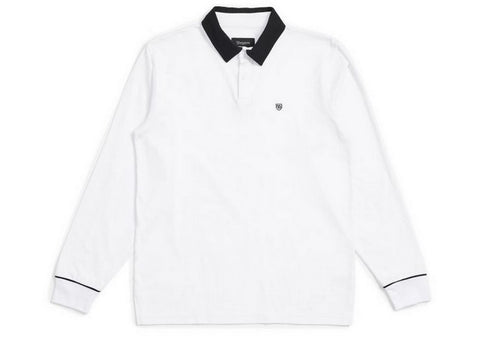 Brixton Carlos L/S Polo White/Black
