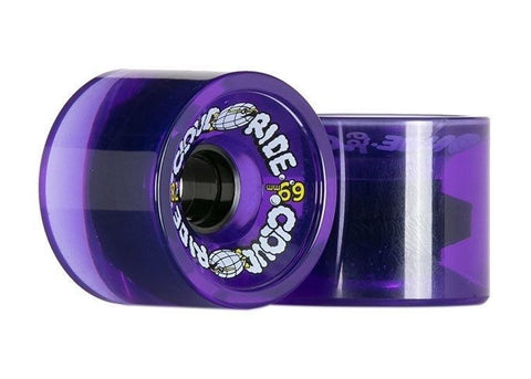 Cloud Ride Cruisers 78a 69mm Clear Purple