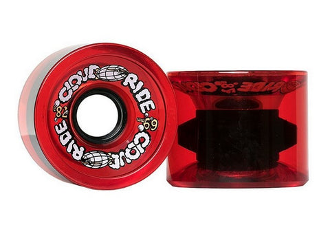 Cloud Ride Cruisers 78a 69mm Trans Red