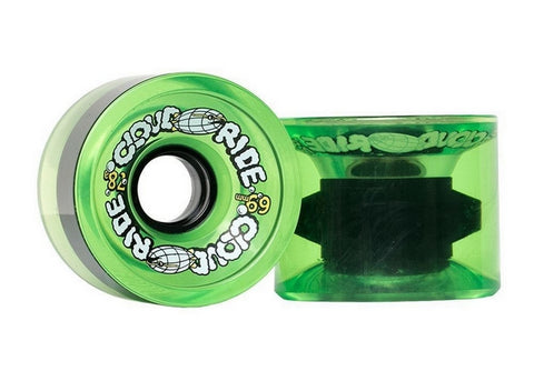 Cloud Ride Cruisers 78a 69mm Translucent Neon Green