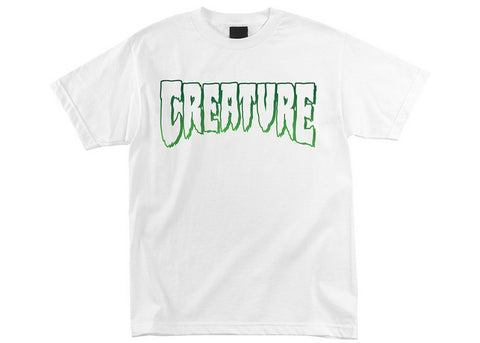 Creature Logo Outline T-Shirt White