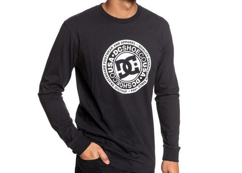 DC Circle Star L/S Black/White