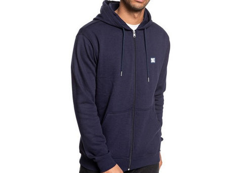 DC Rebel Zip-Up Hood Dark Indigo