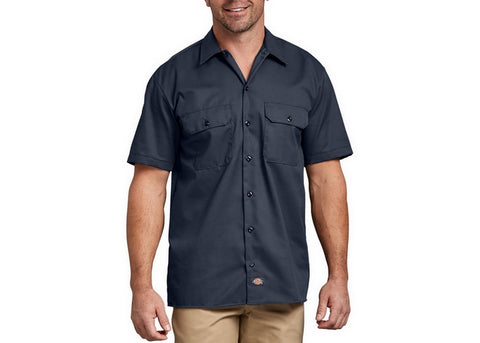 Dickies Short Sleeve Work Shirt Navy