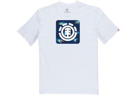 Element Hoffman Block T-Shirt Optic White