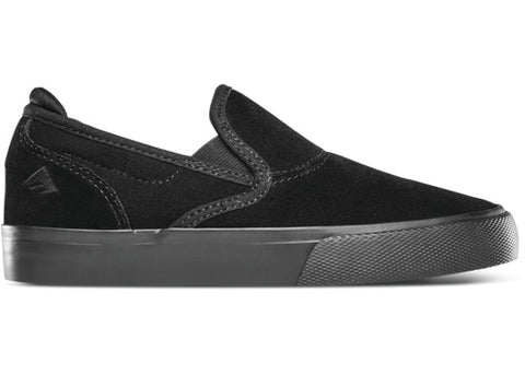 Emerica Youth Wino G6 Slip-On Black/Black