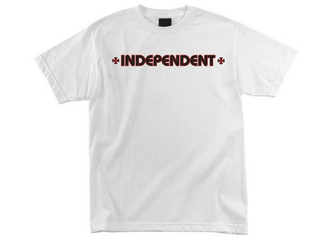 Independent Bar/Cross T-Shirt White