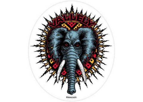 Powell Peralta Vallely Elephant  Sticker