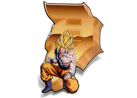Primitive DBZ Goku Dirty P Pin Gold