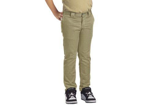 Dickies Boys' Flex Skinny Fit Straight Leg Pants Military Khaki
