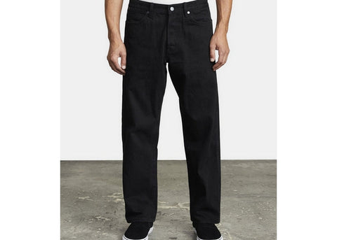 RVCA Americana Relaxed Fit Denim Black Rinse