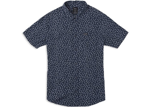 RVCA Boys Ficus Floral Shirt Federal Blue