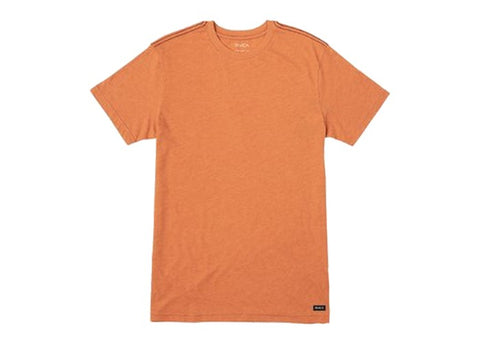 RVCA Solo Label SS T-Shirt Rust