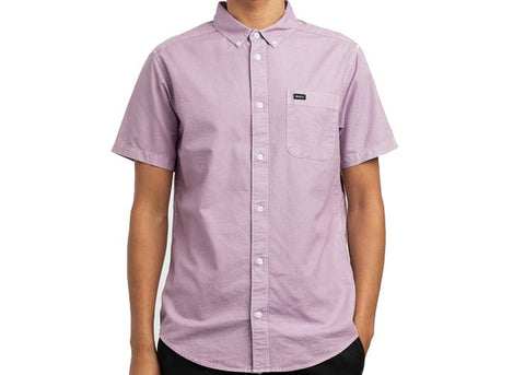 RVCA Thatll Do Button Up Lavender S/S Shirt