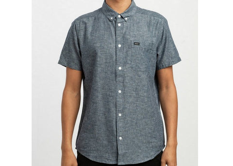 RVCA Thatll Do Hi Grade Button Up Indigo