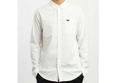 RVCA Thatll Do Stretch White L/S Shirt