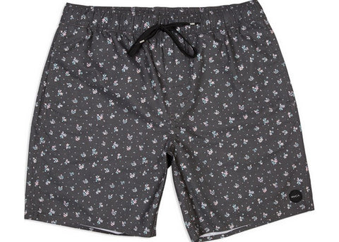 RVCA Shattered Elastic Boardshort Pirate Black