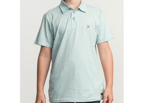 RVCA Boys Sure Thing ANP Polo Ether Blue
