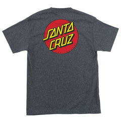 Santa Cruz T-shirt Classic Dot Chest Charcoal Heather