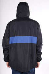 Theories Stamp Sport Half Zip Jacket Black Royal
