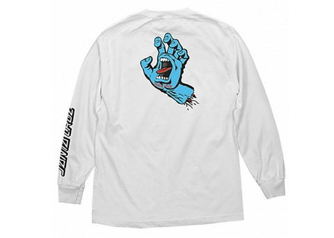 Santa Cruz Screaming Hand LS White