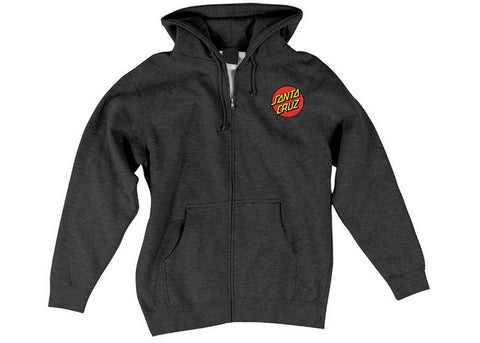 Santa Cruz Classic Dot Zip Hood Charcoal Heather