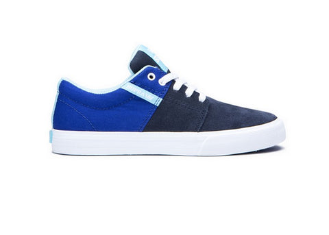 Supra Stacks Vulc II Kids Royal/Navy White